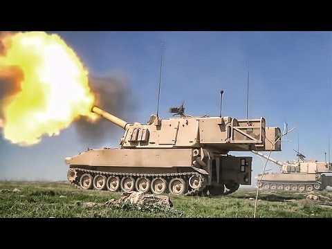 Red Dragon Crews Fire Paladins M109 Howitzer - YouTube