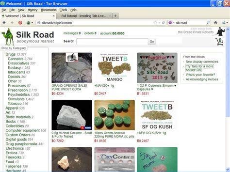 Silk-Road viewed through the Tor Browser | Tor browser