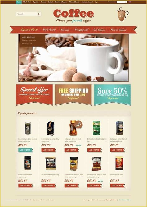 53 Coffee Shop Website Template Free Download